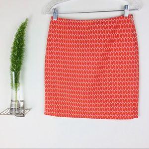 Ann Taylor Textured Orange Pencil Skirt Size (0P)